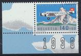 CH 1369 gestempelt mit Eckrand links unten