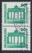 DDR 3346 gestempelt senkrechtes Paar