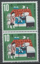 BRD 370 postfrisch senkrechtes Paar