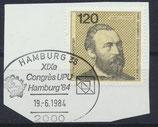 BRD 1217 gestempelt auf Briefstück