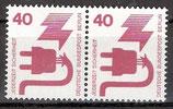 BERL 407 postfrisch waagrechtes Paar