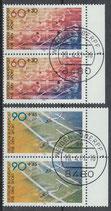 BRD 1094-1095 gestempelt senkrechte Paare mit Bogenrand rechts