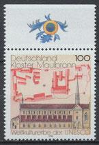 BRD 1966 postfrisch mit Bogenrand oben