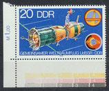 DDR 2355 postfrisch mit Eckrand links unten