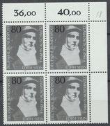 BRD 1162 postfrisch Viererblock mit Eckrand rechts oben