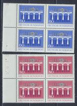 BRD 1210-1211 postfrisch Viererblocksatz mit Bogenrand links