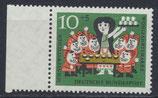 BRD 386 postfrisch mit Bogenrand links