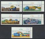 DDR 2236-2240 postfrisch mit Eckrand rechts oben