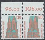 1375 postfrisch waagrechtes Paar Bogenrand oben (BRD)