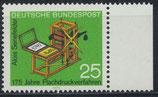 BRD 715 postfrisch mit Bogenrand rechts