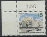 BERL  255 postfrisch Eckrand links oben (RWZ 1,50)