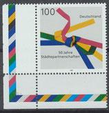BRD 1917 postfrisch mit Eckrand links unten