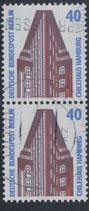 BERL 816 gestempelt senkrechtes Paar