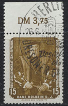 DDR 588 gestempelt mit Bogenrand oben (RWZ 3,75)