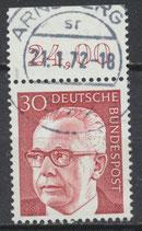 638 gestempelt mit Bogenrand oben (RWZ 24,00) (BRD)