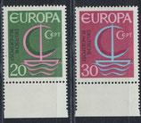 BRD 519-520 postfrisch mit Bogenrand unten