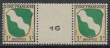 FRZO 1 postfrisch Zwischenstegpaar mit Masch.-Nr. 16