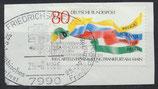 BRD 1283 gestempelt auf Briefstück
