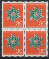 BRD 570 postfrisch Viererblock