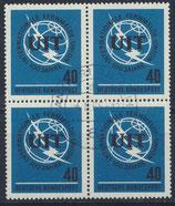 BRD 476  gestempelt Viererblock