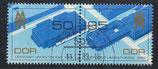 DDR 3267-3268 gestempelt Zusammendruck
