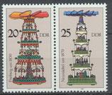 3135/3136 postfrisch Zusammendruck (DDR)