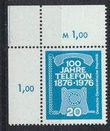 DDR 2118 postfrisch mit Eckrand links oben