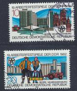 DDR  2706-2707  philat. Stempel  (2)