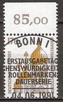 1535 gestempelt mit Bogenrand oben (BRD)