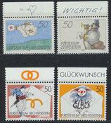 LIE 1041-1044 postfrisch mit Bogenrand oben