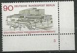 BERL 577  postfrisch Eckrand rechts unten mit Formnummer 3