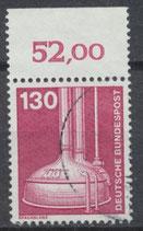 BRD 1135 gestempelt mit Bogenrand oben (RWZ 52,00)