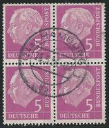BRD 179 x   gestempelt Viererblock