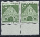 BRD 492 postfrisch waagrechtes Paar mit Bogenrand unten