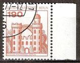 BERL 539 gestempelt Bogenrand rechts