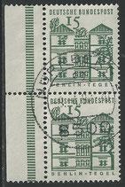 455 gestempelt waagrechtes Paar mit Seitenrand links  (BRD)