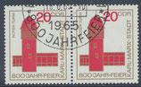 DDR 1118 philat. Stempel waagrechtes Paar