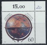 BRD 1627  postfrisch mit Eckrand rechts oben