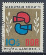 DDR 1100  philat. Stempel