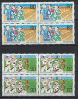 BRD 1127-1128 postfrisch Viererblocksatz