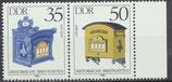 2926-2927 postfrisch WZD621 mit Bogenrand rechts (DDR)