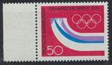 BRD 875 postfrisch mit Bogenrand links