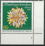 BERL 734 postfrisch Eckrand rechts unten mit Formnummer 1
