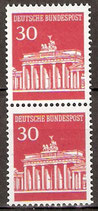 BRD 508 R postfrisch senkrechtes Paar