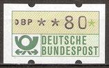 80 (Pf) Automatenmarke 1 postfrisch (BRD-ATM)