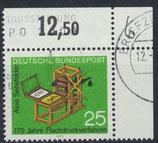 BRD 715 gestempelt mit Eckrand rechts oben