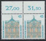 1468 postfrisch waagrechtes Paar Bogenrand oben (RWZ) (BRD)