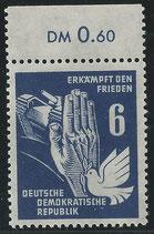 276 (Mi. Nr.) postfrisch Bogenrand oben (DDR)