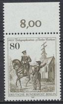693 postfrisch Bogenrand oben (RWZ 8,00) (BERL)