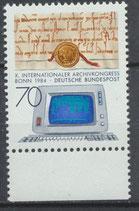 BRD 1224 postfrisch mit Bogenrand unten
